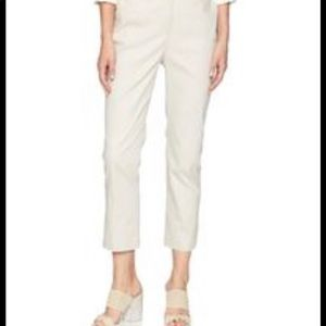 Ellen Tracy Mid Rise Slim Fit Ankle Pants in Cream